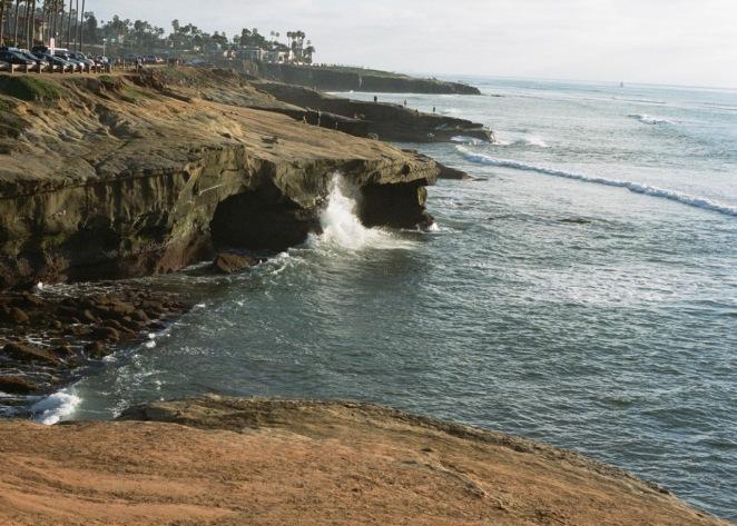 Sunset Cliffs in San Diego using portra 400.