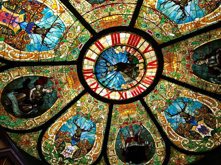 Stained glass cieling