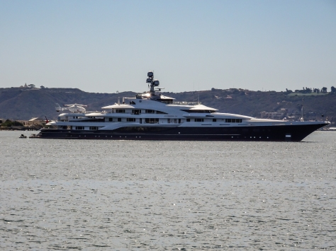 big yacht SD harbor