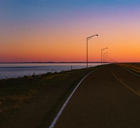 Fort Peck road lamps minolta ektar